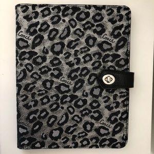 COACH iPad case twist lock leopard cheetah
